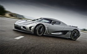 Koenigsegg supercar gris tour HD Fonds d'écran