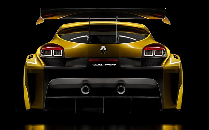 Renault Sport Jaune Vue Arri 232 Re De Voiture Hd Fonds D