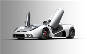 Scuderia Bizzarrini P538 argent supercar
