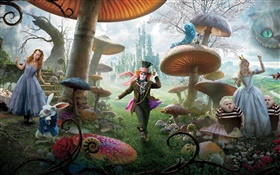 Alice in Wonderland, film grand écran HD Fonds d'écran