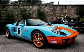 Ford GT40 supercar bleu