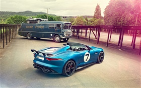 Jaguar Project 7 Concept voiture bleue HD Fonds d'écran