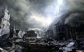 Metro: Last Light, ruines de la ville HD Fonds d'écran