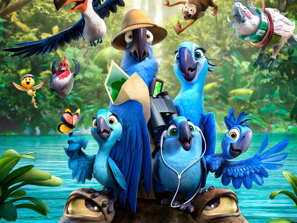 Rio 2, film d'animation 1024x768 Fonds d'écran