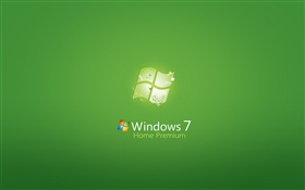 Windows 7 Home Premium, fond vert HD Fonds d'écran