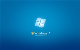 Windows 7 Professional, fond bleu HD Fonds d'écran