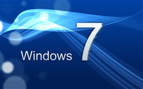 Windows 7, la courbe bleue HD Fonds d'écran