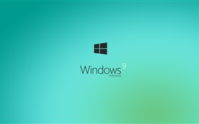 9 de Windows, professionnel, bleu clair HD Fonds d'écran