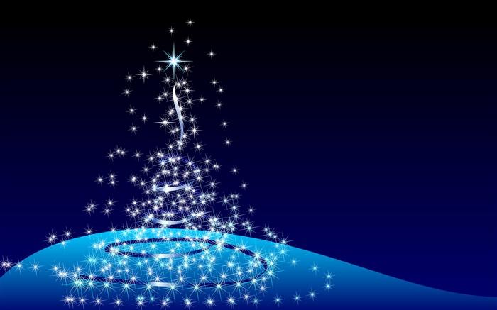 conception de noel arbre abstrait etoiles fond bleu hd With conception de maison 3d 10 conception de no235l arbre abstrait etoiles fond bleu hd