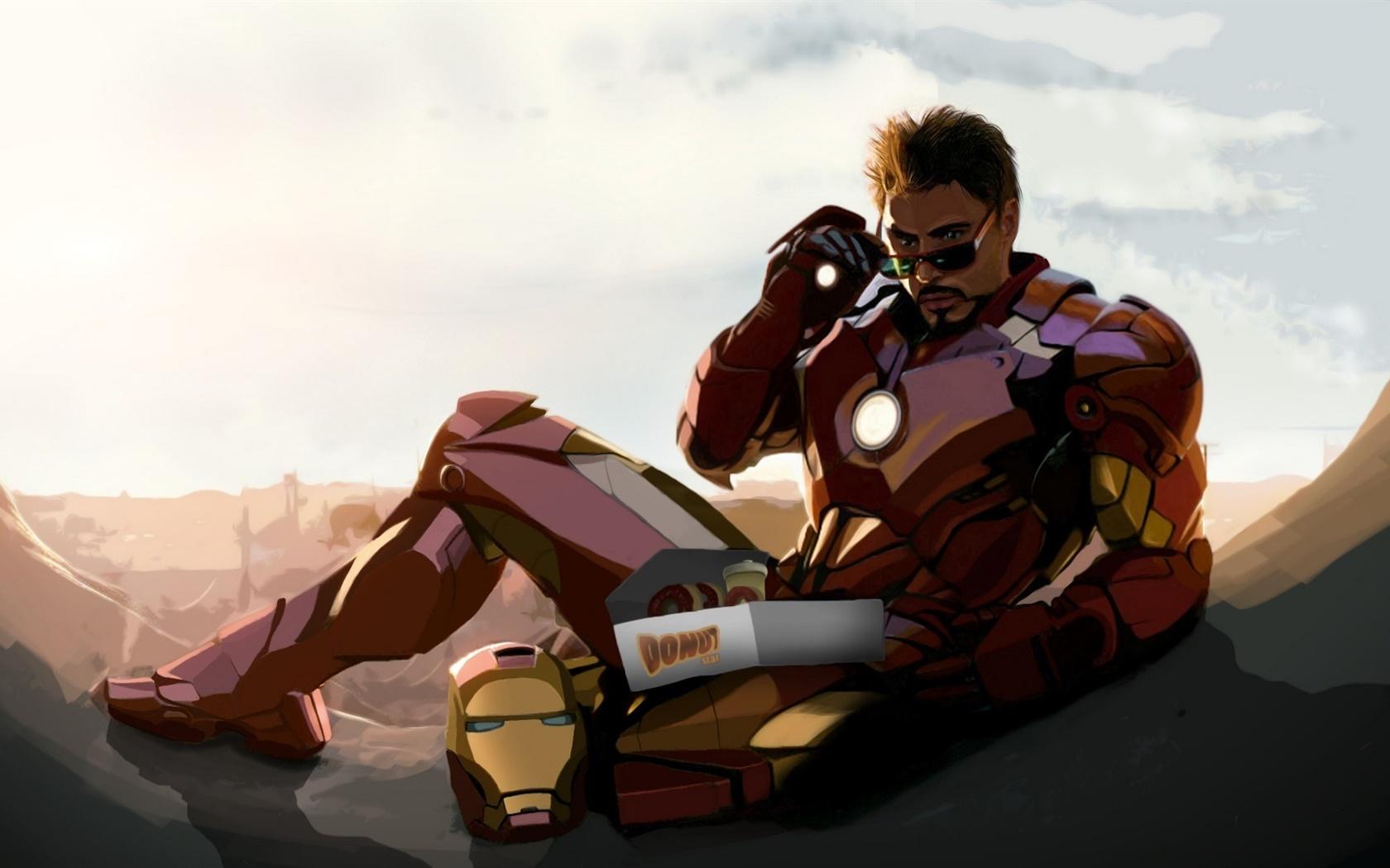Iron Man, Tony Stark, Robert Downey Jr, le dessin d'art Fonds d'écran ... Robert Downey