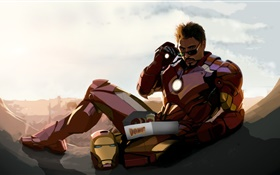 Iron Man, Tony Stark, Robert Downey Jr, le dessin d'art