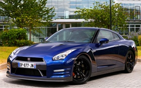 2015 Nissan GT-R R35 UK-spec voiture bleue HD Fonds d'écran
