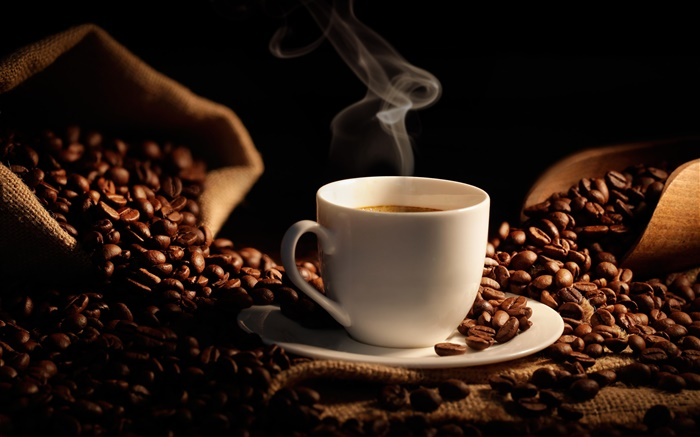 Célèbre Sac de grains de café, tasse, grain HD Fonds d'écran | Café | Fond  TL28