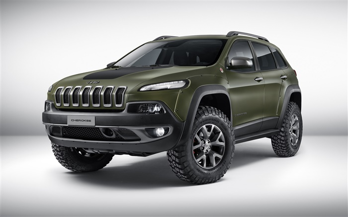 2015 jeep cherokee concept de voiture de couleur verte hd. Black Bedroom Furniture Sets. Home Design Ideas