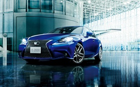 2015 Lexus IS 200t JP-spec voiture bleue