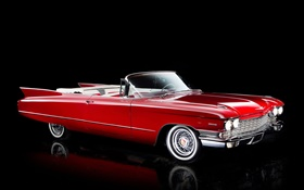 1960 Cadillac Sixty-Two Convertible, couleur rouge HD Fonds d'écran