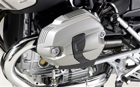 BMW moteur de moto close-up