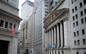 New York Stock Exchange, gratte-ciel, États-Unis HD Fonds d'écran
