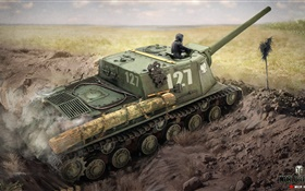 World of Tanks, jeu PC, le dessin d'art HD Fonds d'écran