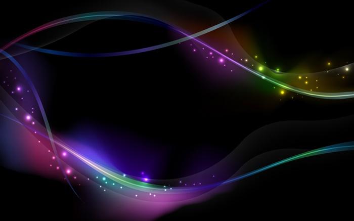 10 Most Popular 3d Colorful Music Notes Wallpaper Full Hd: Lignes Lumineuses Colorées, Fond Noir, Résumé HD Fonds D