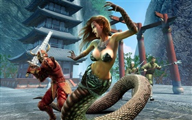 EverQuest, serpent fille HD Fonds d'écran