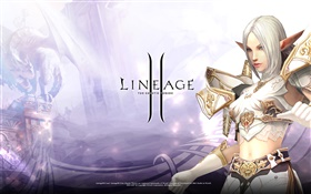 Lineage 2, belle fille elf HD Fonds d'écran