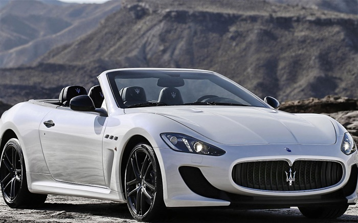 maserati grancabrio voiture blanche d capotable hd fonds d 39 cran voitures fond d 39 cran. Black Bedroom Furniture Sets. Home Design Ideas