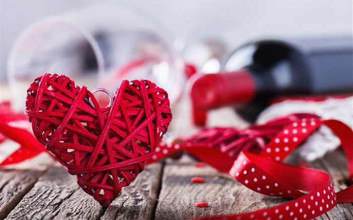 saint valentin amour coeur rouge vin romantique hd fonds d 39 cran amour fond d 39 cran. Black Bedroom Furniture Sets. Home Design Ideas