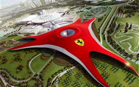 Ferrari World à Dubaï, la conception future HD Fonds d'écran