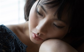 Asiatique, girl, dormir HD Fonds d'écran
