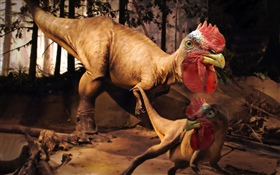Image créative, dragon, dinosaure, monstre, poulet HD Fonds d'écran