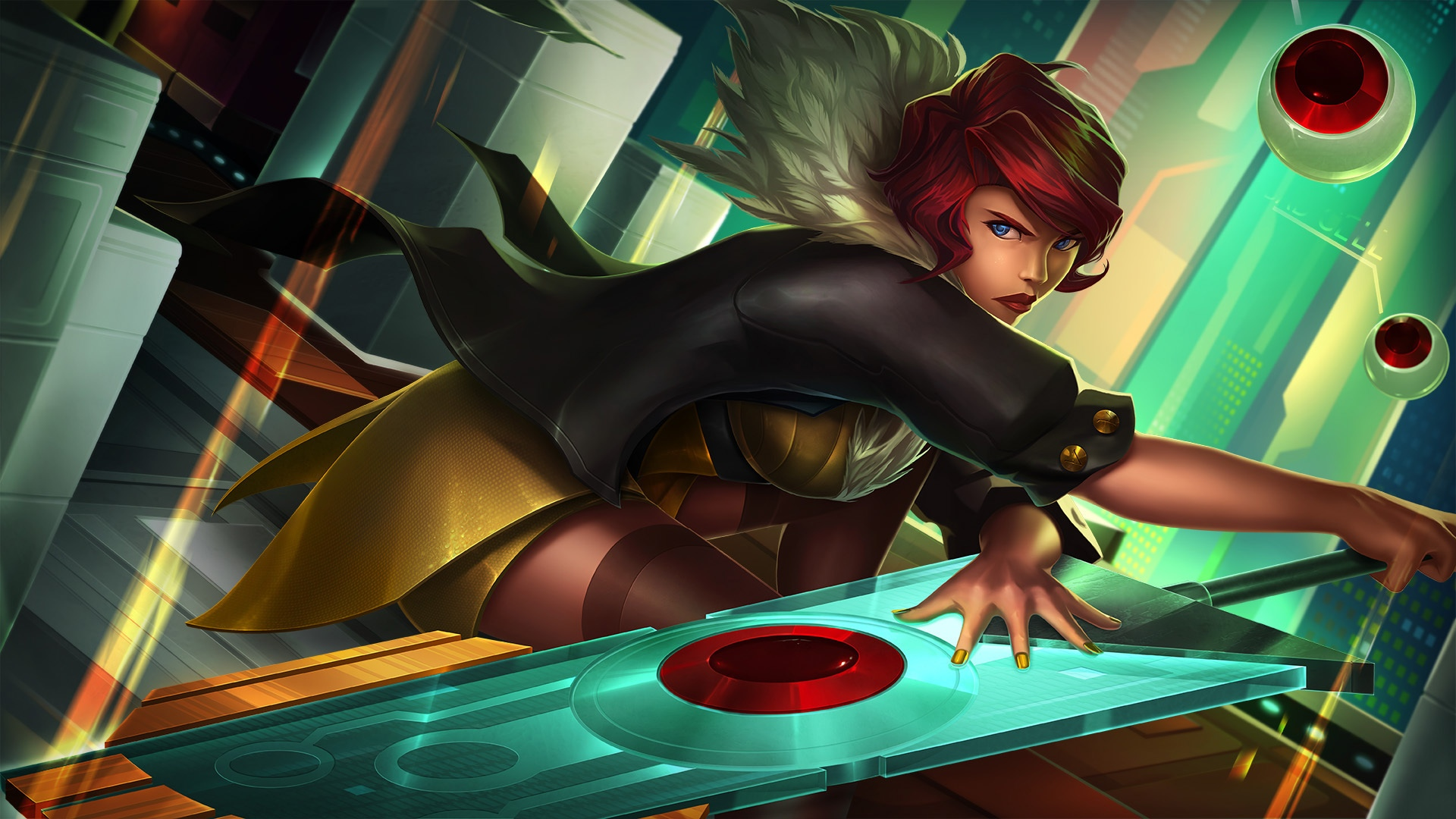 Transistor, SuperGiant Games, blue eyes girl 1920x1080 Fonds d'écran