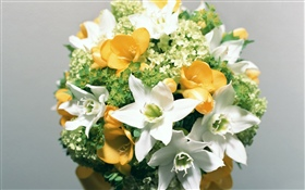 Jupes blancs, bouquet